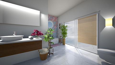 Cherry Blossom Bathroom - Bathroom  - by maliin