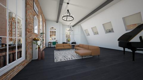 Simple space - Modern - Living room - by Mari_Torrez01