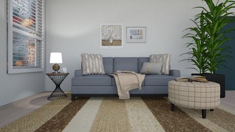Rainy Day Beige - Living room  - by kamonela09
