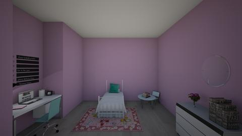 girls bedroom1 - Bedroom  - by kennacourt1234