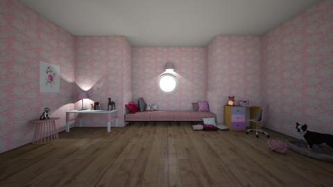 Pink Attic - Modern - Bedroom  - by matildabeast