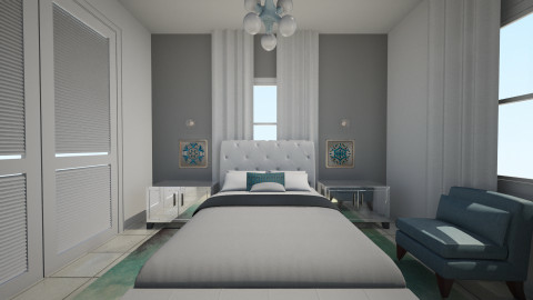 Teal Balloons Valdes - Glamour - Bedroom - by daisies4u2