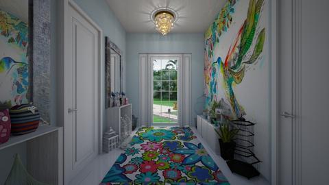 Modern Playful Hallway - by ElleP