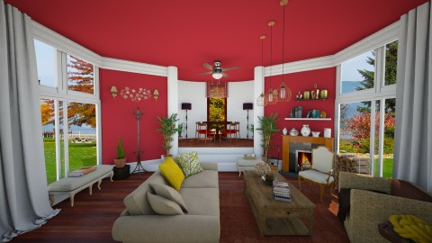 Red Lady - Vintage - Living room - by Bianca Biffa Hart
