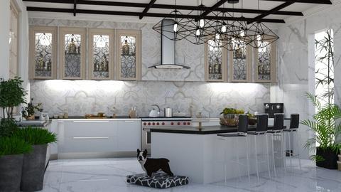 White Kitchen - by Maryjo1965