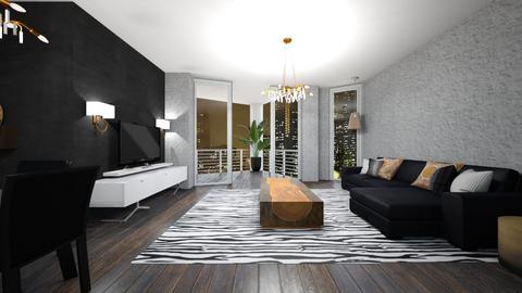 Orange - Living room  - by rosanebpf