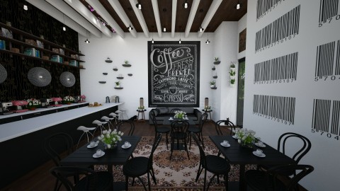 Coffee Shop - Modern - Kitchen  - by hollyhough549