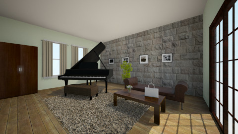 Piano Room - Office - by amynicole17