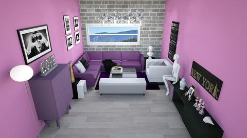 salon mauve bw - Modern - Living room - by rimanina