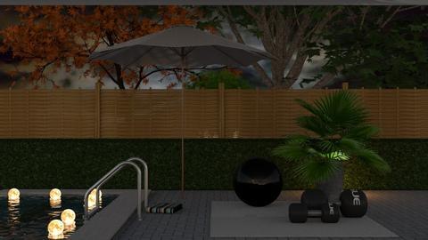 Outdoor Yoga - Garden  - by KittyKat28