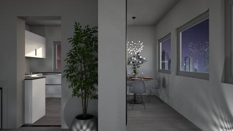 Grey Apartment 3 - Modern - Kitchen  - by millerfam