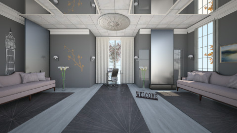 silver room - Classic - Living room  - by Boka i Deki