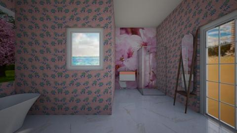 Cherry Blossom Bathroom - Bathroom  - by CW THE HARRY POTTER FAN