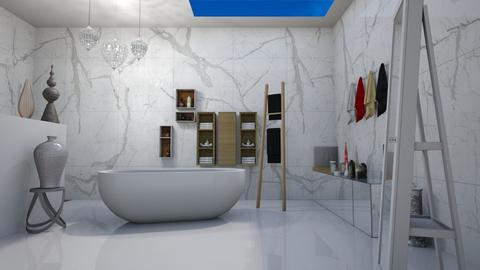 skylight bath  - Eclectic - Bathroom  - by vallequeen