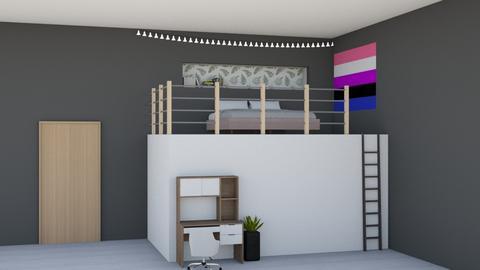 Loft Bedroom - Bedroom  - by kitacat