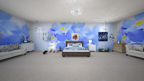 Blue Bedroom  - by mewhatever1
