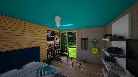 sport fan room - Bedroom  - by home peachome