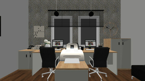black - Modern - Office  - by blingirl