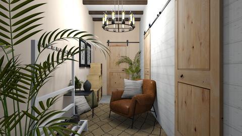 Welcoming Hallway - Living room  - by Meghan White