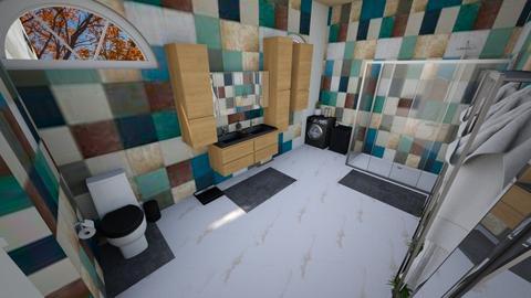 simple modern bathroom 2 - Modern - Bathroom  - by Stavroula Chatzina