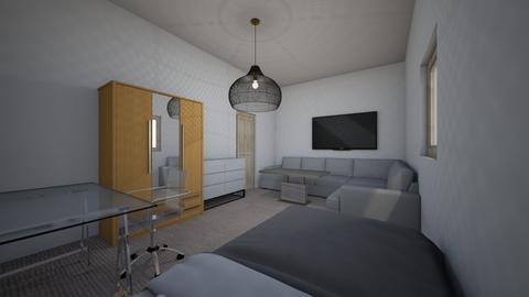 sade yatak oda - Bedroom  - by efe2506