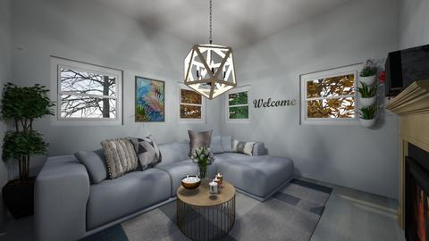 White Living Room - Living room  - by Limitless_Design