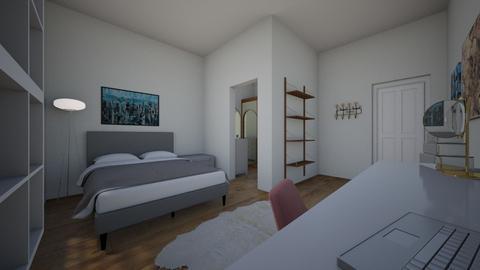 quarto com closet pequeno - Feminine - Bedroom  - by gabriela_pinheiro_moreira