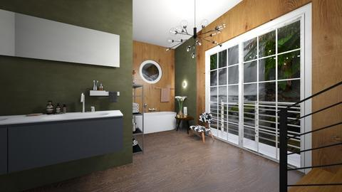 Olive green Bathroom - Bathroom  - by rechnaya