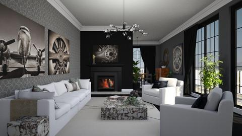 Living Grey - Modern - Living room  - by Claudia Correia