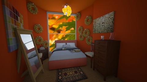 Miniature Autumn - Vintage - Bedroom  - by SofiGotStyle