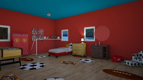 football crazy - Bedroom  - by RhodriSimpson13