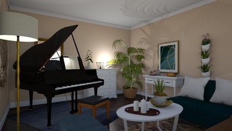 Grand Music Room - Classic - Living room  - by janAllan