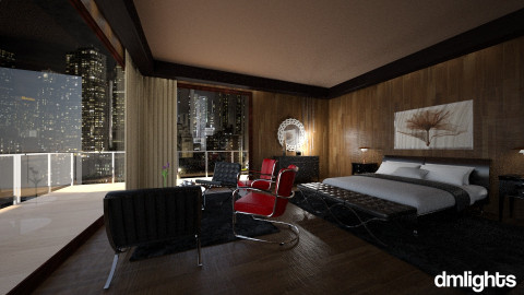 NY City Hotel Room test - Bedroom - by DMLights-user-1040449