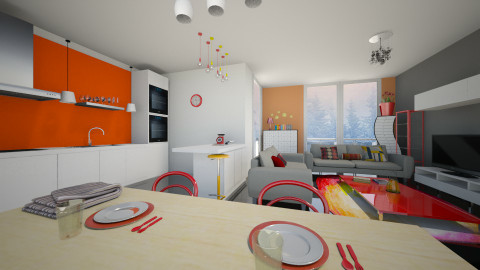Penthouse - Living room  - by Noella Louisy