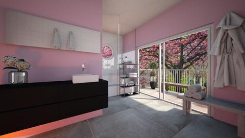 Cherry Blossom Bathroom - Bathroom  - by Noa Jones