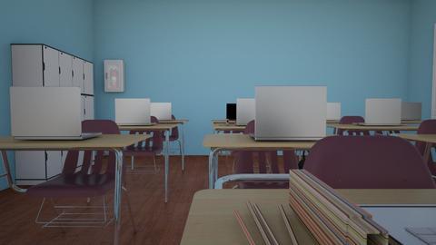 School - Modern - Office  - by plumbuffy