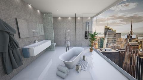 Cityescape bathroom - by chloelm92