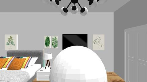 quarky modern bedroom - Bedroom - by Lilly Mae