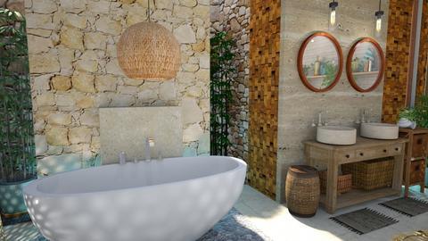 island bathroom - Bathroom  - by Moonpearl