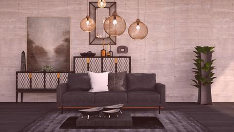 M_ Black - Living room  - by milyca8