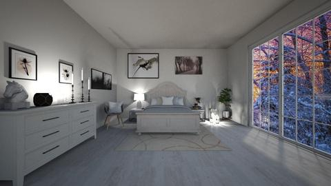 Modern White Bedroom - Bedroom - by beautiful luxury winter decoration