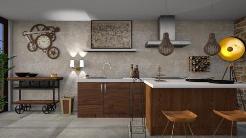 industrial kitchen - Kitchen  - by Galstyler