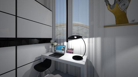 Bedroom study corner v2 - Modern - Bedroom  - by MissChellePh