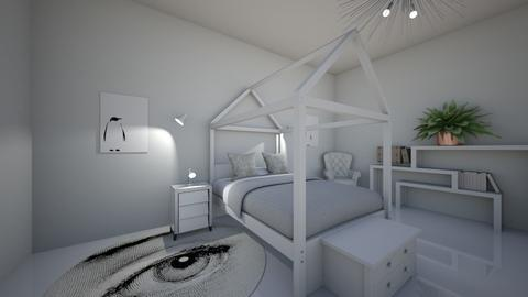 White Bedroom - Bedroom  - by MaiZee20