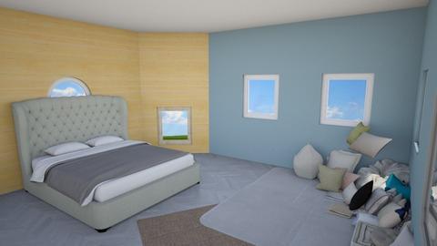 Ocean Blue Bedroom - Feminine - Bedroom  - by MiracleDesigns