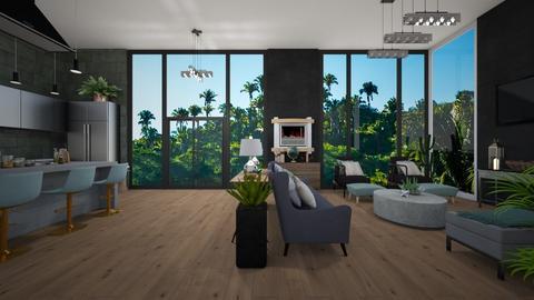 Modern Poppies - Modern - Living room  - by kantorjanos