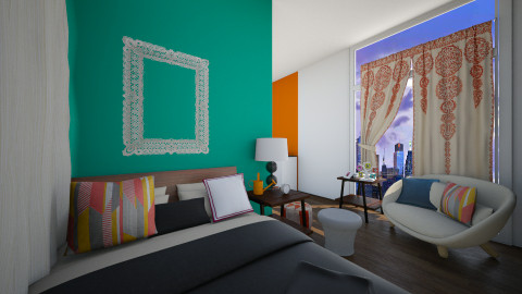 Colourful and Tiny - Modern - Bedroom - by Faiths441