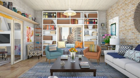 Library and Art Room - Classic - Living room  - by creativediva