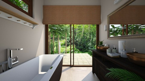 tropical Bath - Classic - Bathroom  - by Muoz Rebeca