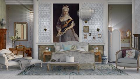 Das blaue Zimmer - Bedroom  - by Mum Dali